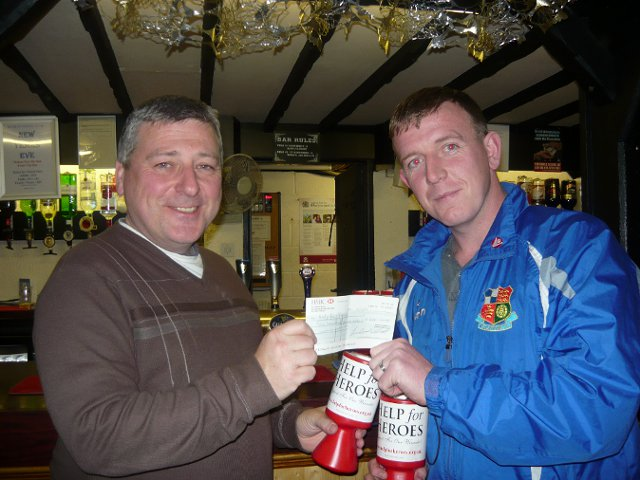 Help for Heroes Cheque Presented
