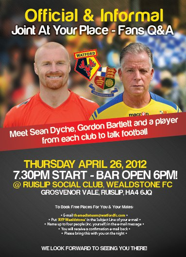 'At Your Place' Watford FC Joint Event