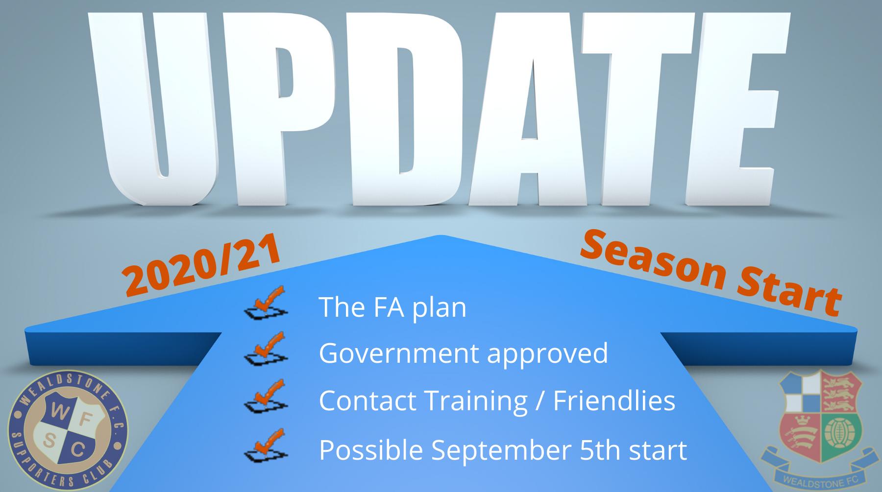 Wealdstone FC Season Start Update